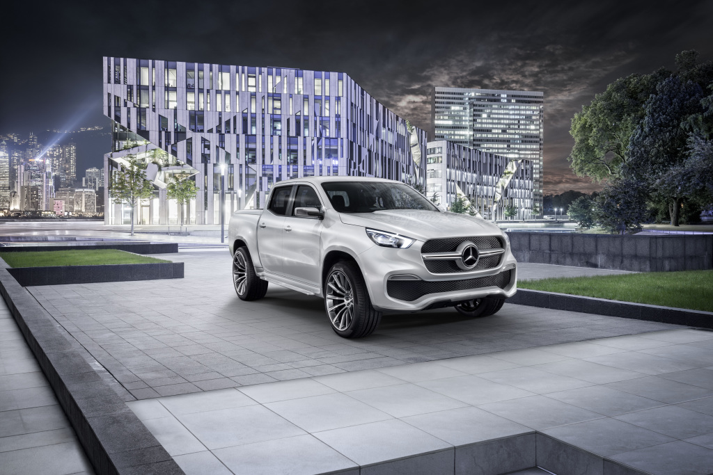 Mercedes-Benz Concept X-CLASS stylish explorer – Exterieur, Weißmetallic ; Mercedes-Benz Concept X-CLASS stylish explorer – Exterior, White metallic;