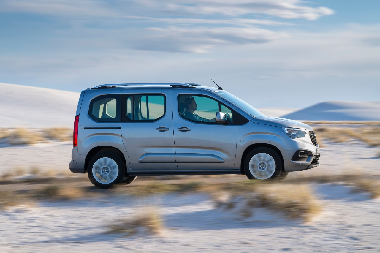 Compact: The new Opel Combo Life is notable for its especially short front and rear overhangs.